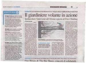 """Tree Climbing Fratelli Bonoldi - articolo su """"il giorno"""""""